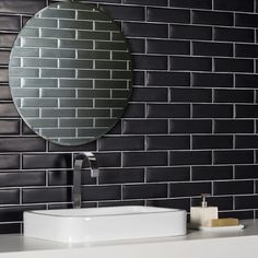 Black Matte Subway tiles.   These are the Liverpool tiles by Portobello.