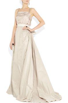 Lanvin | Taffeta and silk gown | NET-A-PORTER.COM