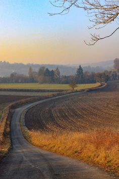 On the road in the Radnage valley running west from West Wycombe (Buckinghamshire, England) by Eric Hardy