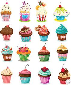 Cupcakes en formato vectorial (Vector Cupcakes)