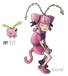 Pokemon Gijinka 187. Hoppip 188. Skiploom 189. Jumpluff