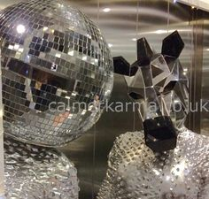 Mirror Ball Entertainers -disco heads and zebras to hire - LONDON & UK Disco 70s, Mirror Man, Living Statue, Corporate Entertainment, 70s Party, Royal Academy Of Arts, The Greatest Showman, Gala Dinner, Contortion