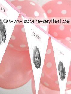 DIY & Bastelidee: Wir feiern Geburtstag – Geburtstagswimpel mit Fotos, Jahreszahl & vielen Erinnerungen | Blog Sabine Seyffert