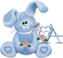 toutlalphabet2 - Page 3214 Alphabet, Images Gif, Smurfs, Creations, Gifts, Character, Haha, Bunnies