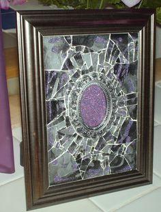 Antiqued Lavender Marble Mosaic Framed  Art by GlassByPriscilla, $129.99