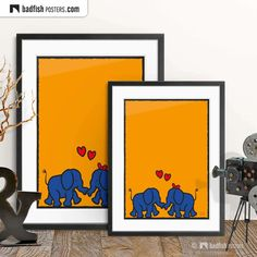 Elephant Bleu, Elephant Print, Kids Poster, Alternative Movie Posters, Comic Styles, Love Blue, Frame It, Contemporary Art, Colours