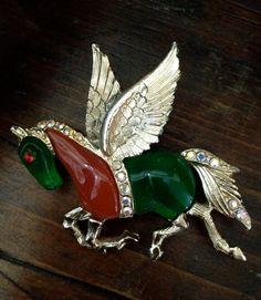 Pegasus Brooch  Attributed to Hattie Carnegie by Vintageimagine, $150.00