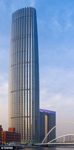 Пользователь Mohd Adnan Mahmoodсохранил пины на доску «Skyscrapers» Tianjin Global Financial Centre, Tianjin, China