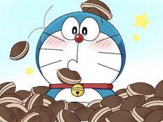 Doraemon with his favorite duruyaki Doraemon Wallpapers, Cute Cartoon Wallpapers, Doremon Cartoon, Cartoon Drawings, Cute Love Cartoons, Cute Pictures, Manga Anime, Childhood, Kawaii