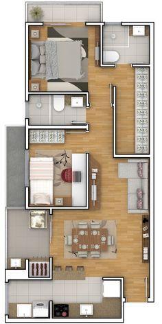 Excellent simple ideas for your inspiration House Floor Design, Sims 4 House Design, Home Design Floor Plans, Home Building Design, Home Room Design, Small House Design, Modern House Design, Sims House Plans, House Layout Plans