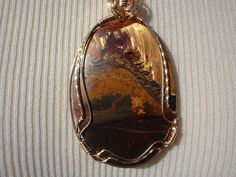 Australian Tiger Iron Pendant on Etsy, $65.00