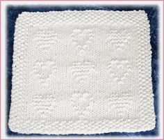 Quilted Heart Dishcloth - Knit - Intermediate Level