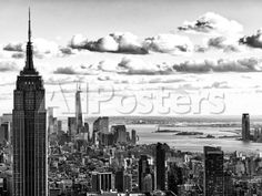 Skyline with the Empire State Building and the One World Trade Center, Manhattan, NYC Landscapes Photographic Print - 61 x 46 cm