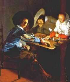 Judith Leyster (Dutch artist, 1609-60) A Game of Backgammon Detail www.transitionresearchfoundation.com