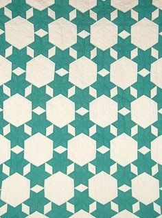 30's Seven Sisters Antique/Vintage Quilt #antiquemodern