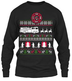 CHRISTMAS FIREFIGHTER UGLY SWEATER -15%   Teespring