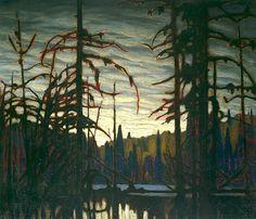 Lawren Harris Beaver Swamp, Algoma, c. 1919 Group of Seven Tom Thomson, Emily Carr, Group Of Seven Artists, Group Of Seven Paintings, Canadian Painters, Canadian Artists, Landscape Art, Landscape Paintings, Landscapes