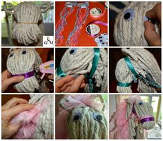 Solagratiamom: Making Mops Into Stick Horses