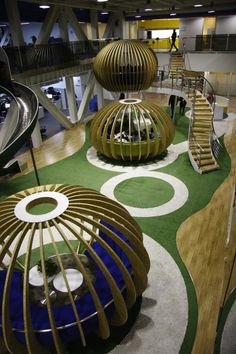 360 HQ office / edg Corporation Ltd.. According to this concept, he designed 4 radial capsule shape 'Future Collider' in the two floor high open area in 6th floor, provide employees brainstorm space to create more creative ideas.