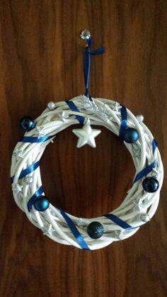 Hanukkah, Wreaths, Handmade, Home Decor, Homemade Home Decor, Hand Made, Door Wreaths, Craft, Deco Mesh Wreaths