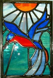 Carol Arnold stained glass window.