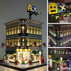 LED Light Kit ONLY With USB Hub For Lego 10211 Grand Emporium Lighting Bricks - LEGO Complete Sets & Packs