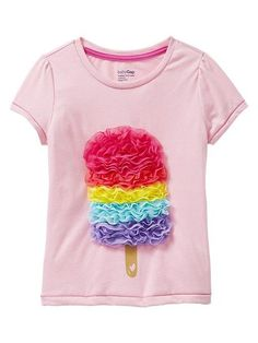 Gap Tulle Popsicle Tee: Available in sizes for girls 1 to 5, Gaps tulle-embellished Popsicle tee ($20) is sure to become her Summer favorite.