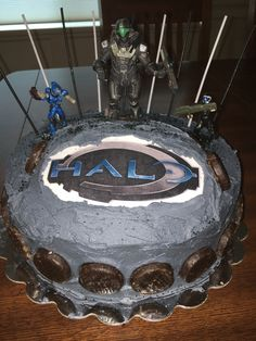 Halo themed cake cake decorating ideas Pinterest Cake Halo