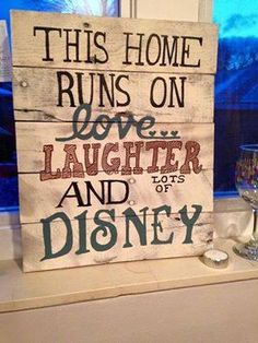 Items similar to Rustic Disney inspired wall hanging made from reclaimed wood- hand painted! on Etsy Casa Disney, Disney Diy, Disney Crafts, Disney House, Disney Ideas, Disney Magic, Disney Home Decor, Disney At Home, Disney Wall Decor