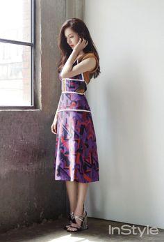 Jinhee Baek Jin Hee, Instyle Magazine, Short Legs, Korean Actresses, Korean Beauty, Korean Fashion, Cute Girls, To My Daughter, Two Piece Skirt Set