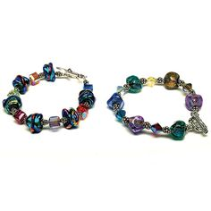 Nice coloured beads. I think homemade?