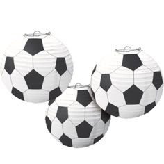Soccer Paper Lanterns 3ct - Party City