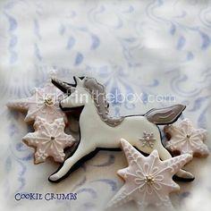 Unicorn Shape Cookie Cutter, L 8.4cm x W 5.7cm x H 2cm, Stainless Steel - USD $ 2.99