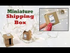DIY- Make a Mini Shipping Box! - YouTube