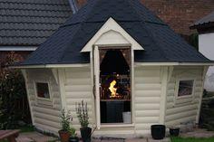 BBQ hut- tapered walls
