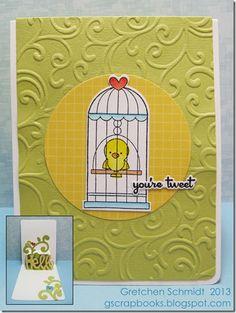 You're Tweet Pop `n Cuts Card Tutorial by @Gretchen
