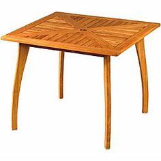 Royal Tahiti Yellow Balau Wood 36-inch Square Table