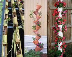 Looking for a DIY project for your garden? Why not make one of these vertical planters?  BTW - there are instructions for making vertical planters in our Gardening Group at http://theownerbuildernetwork.com.au/groups/gardening/forum/topic/how-to-make-your-own-vertical-planter/