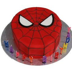 Spiderman cake  ~ Okay, it was not NEARLY this good, but my birthday boy liked it.  :)