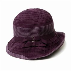 Belle Epoque in purple. A great versatile ribbon hat. #Packable #bucket #sunhat #UPF #purple http://www.solescapes.com/Beach-Hats-and-Pool-hats-s/1858.htm