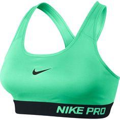 1e51a7ccd Nike Womens Compression Sports Bra (Green Glow Black) Cheer Sports Bras