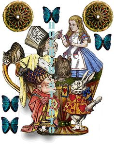 Alice in Wonderland Tea party printable cut by Raidersofthelostart, $4.00