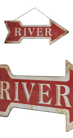 We all need a little bit of directional help sometimes, especially when it comes to going for a swim in the river. With the River-Bound sign, you'll always be headed in the right direction. With a char...  Find the River-Bound Sign, as seen in the Modern Ghost Town Revival Collection at http://dotandbo.com/collections/modern-ghost-town-revival?utm_source=pinterest&utm_medium=organic&db_sku=115044