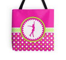 Tote Bag -Figure Skating - Pink and Green Polka-Dots by gollygirls