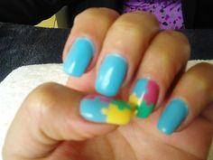 Umas unhas para desvendares o segredo do puzzle ! Muito bonitas , e com a junção de 4 cores *
