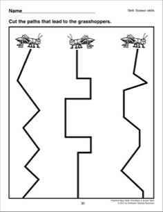 Cutting Angled Lines: Preschool Basic Skills (Scissor Skills) Kindergarten Math Worksheets, Preschool Lessons, Preschool Activities, Geometry Worksheets, Free Worksheets, Tracing Shapes, Cutting Activities, Guided Reading Levels, Learning Support