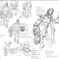 Character Poses, Character Design References, Character Concept, Concept Art, Comic Books Art, Comic Art, Mike Mignola Art, Comic Style, Dark Comics