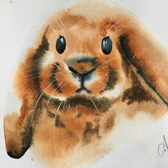 So much fun this morning : Bunny painting with my dear friend #bymamalaterre #watercolor #watercolorpainting #bunnypaintings
