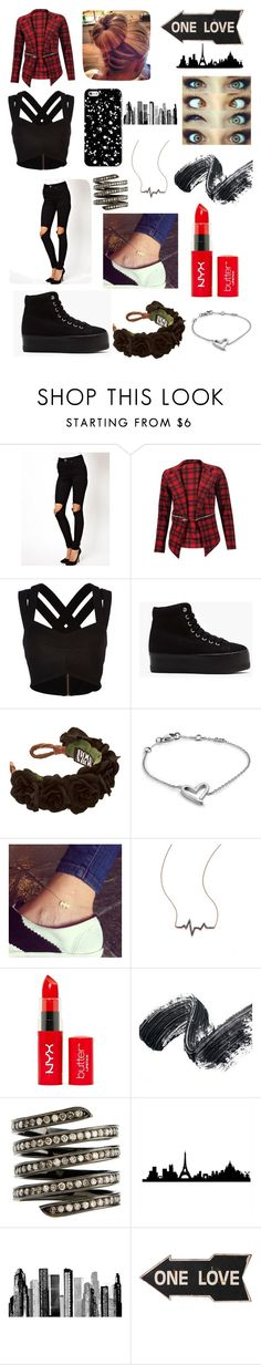 """""""One Love"""" by rania-horan ❤ liked on Polyvore featuring ASOS, River Island, Jeffrey Campbell, Calvin Klein, Diane Kordas, Lynn Ban and RoomMates Decor"""