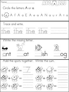 A Teeny Tiny Teacher - Kindergarten Morning Work. I used this morning work at Burnett. Kindergarten Homework, Kindergarten Morning Work, Kindergarten Worksheets, Kindergarten Independent Work, Letter Worksheets, Reading Worksheets, School Fun, School Ideas, Summer School